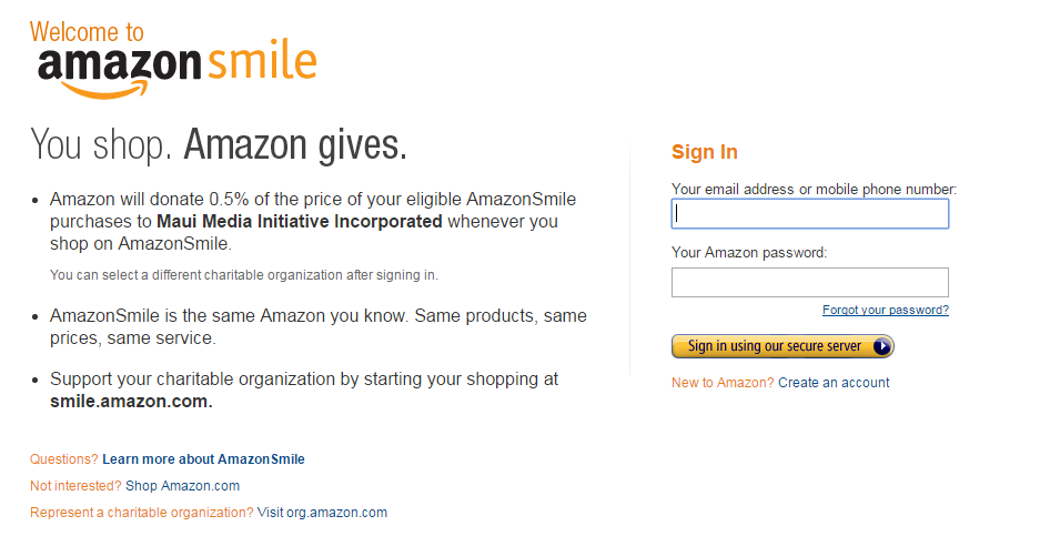 2016-07-13 07_44_45-AmazonSmile_ You shop. Amazon gives.