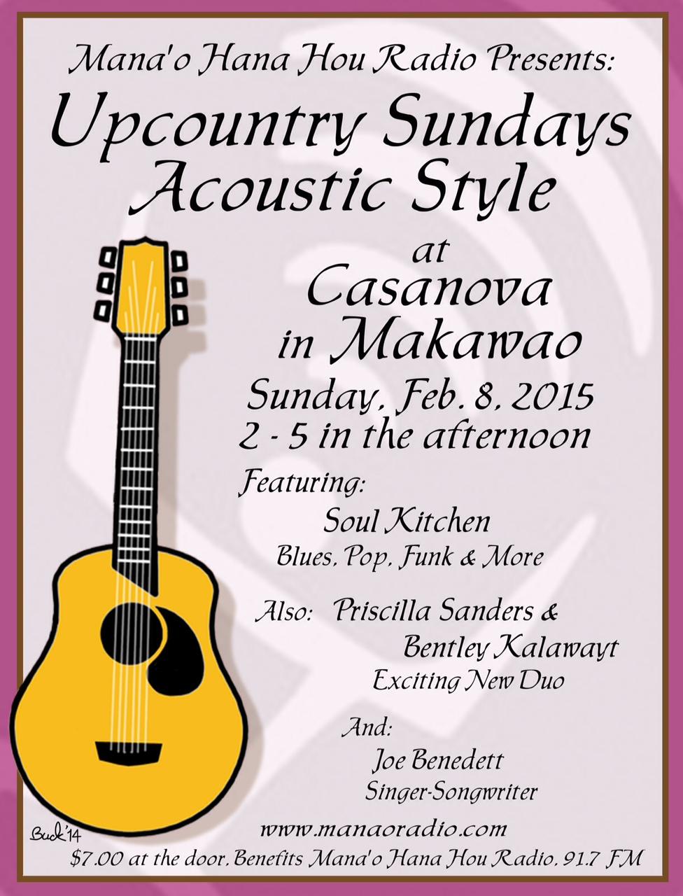 Up Country Sundays 2-8-15 Soul Kitchen
