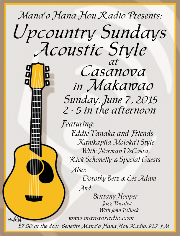 Up Country Sundays 6-7-15 Eddie Tanaka